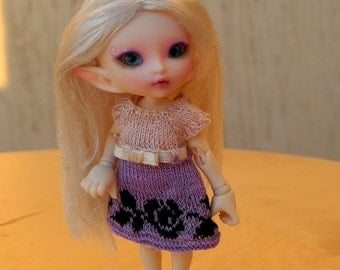 Sale! Knitted dress for Realpuki doll (free shipping)