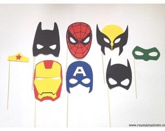 Superhero photobooth props package