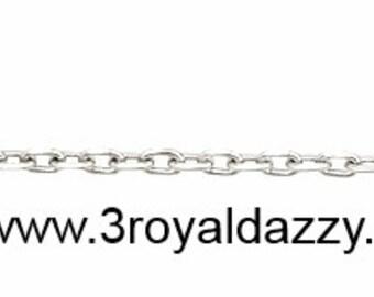 """Precious Italian Sterling Silver Diamond Cut Cable Chain 1 MM 18 """""""