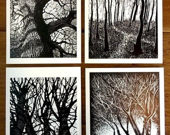 Trees Cards – Set of 4