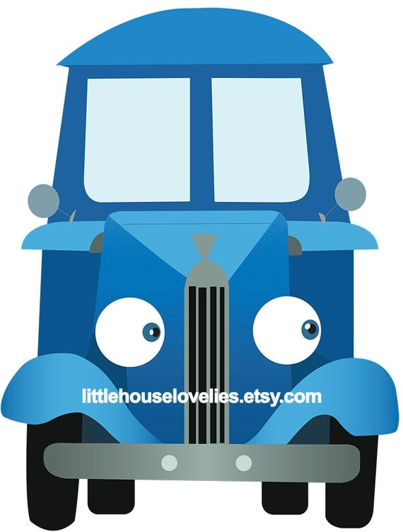 Little Blue Truck Birthday Photo Booth Printable Photo Prop