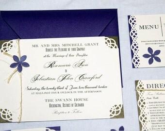 Rustic Chic Wedding Invitations Suite