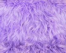 Lavender Fur Fabric FREE SHIPPING 12x12 and 20x20 Craft Squares Light Pale Purple Lilac Fur Fabrics