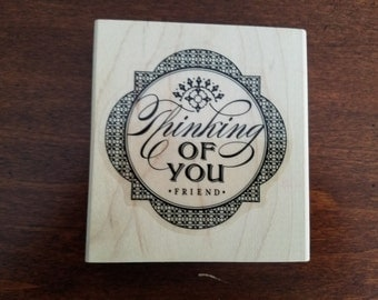 "Stampin Up ""thinking of you"" stamp"