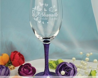 Personalised Hens Night Engraved Wine Glass