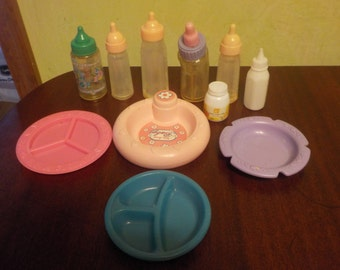 Vintage Pretend Baby Doll Dishes