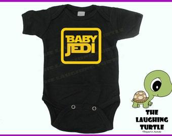 Star Wars Baby Jedi Cool  Baby Onesie. Romper.