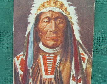 Vintage Postcard-Sioux Indian Chief