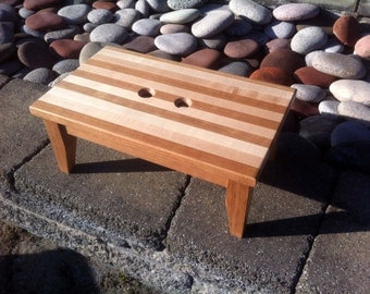 Hardwood Step Stool Cherry and Maple