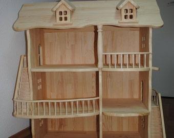 Dollhouse - wooden doll house - wood dollhouse - handmade dollhouse - Toy wooden house - wood doll house -victorian dolls house