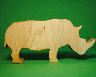 Wood rhinoceros - Wooden Toy - Wooden rhinoceros - rhinoceros Toy - Wood Toy - Organic Toys - Toy Animals - Waldorf Toy - Wooden Animals