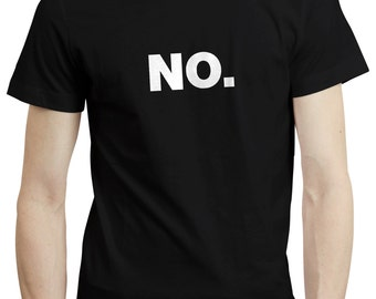 NO Office Work Helvetica Typography Grumpy Introvert T shirt Tshirt