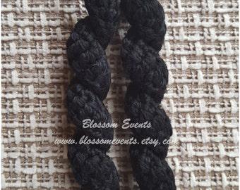 Crocheted Swirl Earrings- black