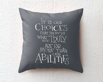 Harry Potter pillow case Albus Dumbledore quote, throw pillow cover decorative pillow cushion cover, graduation gift for him, teen's gift