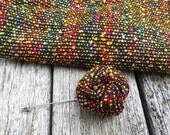 Colorful Lapel Flower - Tweed Lapel Flower - Men Lapel Flower - Colorful Lapel Button - Wedding Lapel Flower - Fabric Rolled Lapel Rose