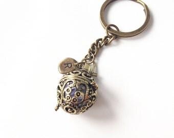 locket keychain,secret message locket,custom message