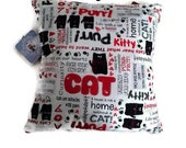 Awesome Unique Cute Cat Kitty Purr Cat Lover Home Decoration Throw Pillow Cushion