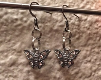 Longer Butterfly Dangle Earrings