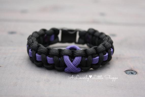 Items Similar To Purple Awareness Ribbon Paracord Bracelet