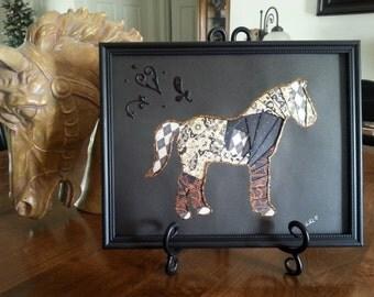Lucky Horse Love Iris Folded Horse (8 x 10) Tutorial