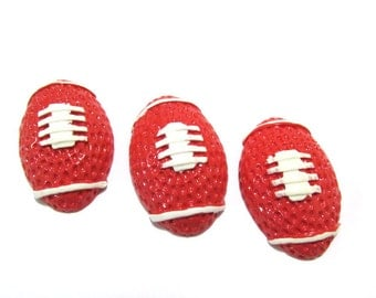 Football Cabochons | Resin Flatback | DIY Supplies | Jewelry Supplies | Embellishments | Warehouse1711