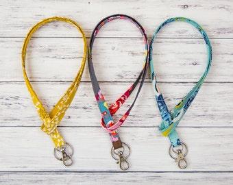 Lanyard- Key Lanyard- Teacher Lanyard- Nurse Gift- Id Badge Holder- Id Holder- Fabric Lanyard - Keychain- Badge Holder- Teacher Gift-