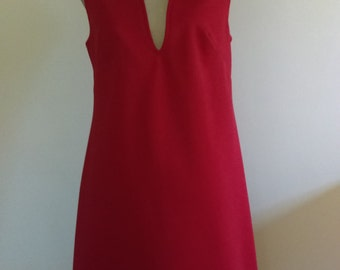 Vintage Old Pueblo Red Knit Dress.