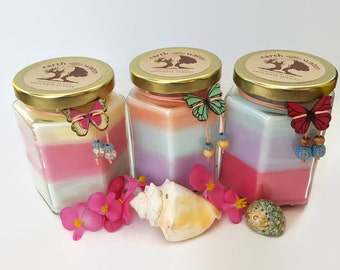 Soulmate Scents - 9 oz Soy Candle - Pick 3 Scents - Layered Soy Candle