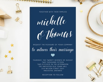 Classic Wedding Invitation Suite, DIY printable wedding invitation, Rustic wedding invitation, Wedding printable