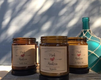 Park and Madison-Soy Candles, Scented Soy Candles, Choose a Scent, Soy Candles Handmade