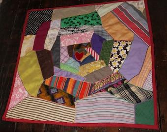 Love quilt- patchwork throw/blanket