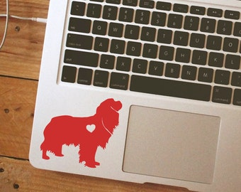SUMMER SALE! Cavalier King Charles Spaniel w/ Heart Car Laptop Vinyl Decal Sticker