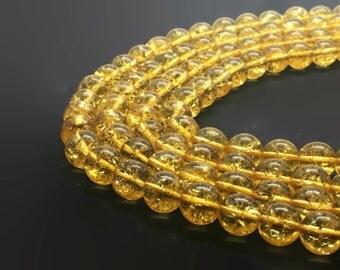 4mm Natural Citrine Beads Round 4mm Citrine 4mm Citrine Beads Yellow Stone Citrine Stone 4mm Yellow Beads 4mm Natural Citrine 4mm Beads