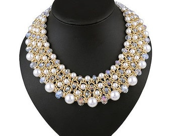Luxury Collars Vintage Ethnic Crystal Beads  Retro sapphire jewelry Necklaces  #1