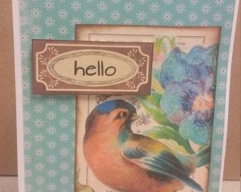 Hello Bird Card