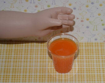 "Orange juice for 18"" dolls like American Girl food, Our Generation food"