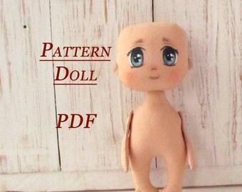 Lerika Doll -PDF - Sewing Pattern - Rag Doll Pattern pdf - Pattern Doll Body - Blank Rag Doll - PDF Doll Body - Doll Form