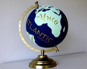 Hand Painted and Hand Lettered Customizable Wanderlust Travel Globe