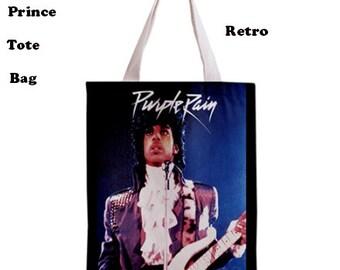 Prince tote bag, 70s, Tote bag, music, 70s music, 80s music, purple rain, 80's, 80's fashion, bags