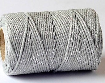 Silver Sparkle 2mm Cotton Bakers Twine by James Lever