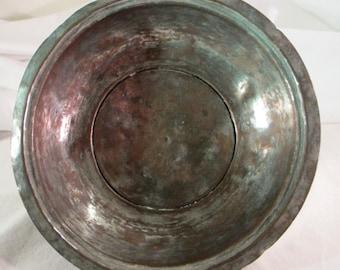 Vintage Copper Bowl from Turkey Turkish Hand Decorative Bowl