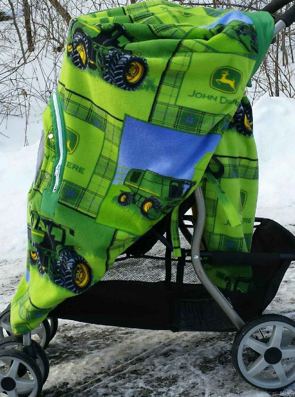Stroller Cover Green John Deere Tractor Baby Infant Car Seat