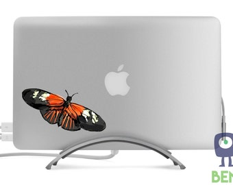 Longwings Butterfly - Heliconian - Painted Style Full Color Decal - Fits All MacBooks, Laptops, Cars - For Indoor or Outdoor Use