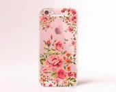 Transparent Floral iPhone 6s case Clear Rubber iPhone 6s case Floral iPhone 6 plus case iPhone 6s plus case iPhone 5S Samsung Galaxy S6 case