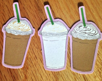 Frappuccino stickers - chocolate, caramel, and vanilla bean (Ct. 3)
