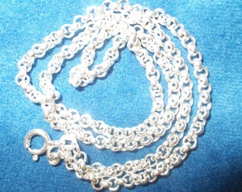 Solid sterling silver British belcher chain necklace 18 inches