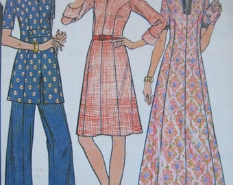 Vintage Sewing Pattern, Ladies Tunic, Ladies Wide Leg Trousers, Plus Size, 70s, Ladies Wide Leg Pants,McCalls 3726, Bust 48, Pounds Thinner