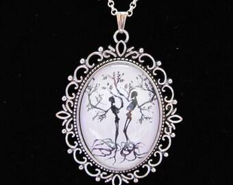 Skeleton Tree Cabochon Pendant - The Lovers