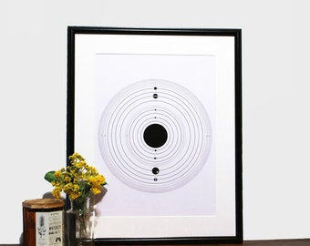 Solar System Space Print