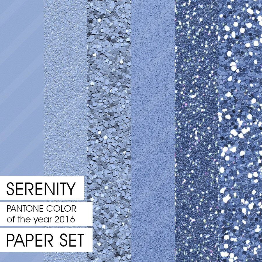 Glitter Paper PANTONE Spring 2016 Serenity 6 By